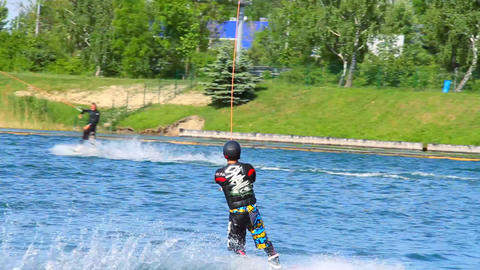 Wakeboard 01 3 in 1 Stock Video Footage