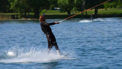 Wakeboard 05 2 in 1 Stock Video Footage