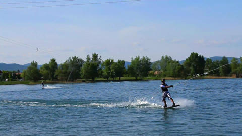 Wakeboard 11 Stock Video Footage