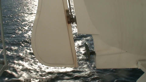 Rudder and propeller of lifeboat on cruise ship, close-up Stock Video Footage