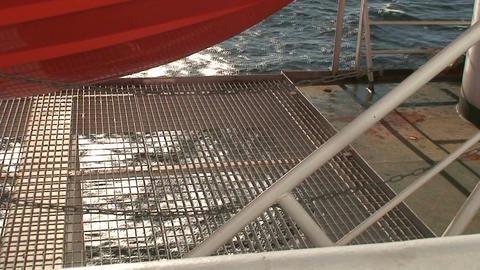 Lifeboat on a cruise ship 4 Stock Video Footage