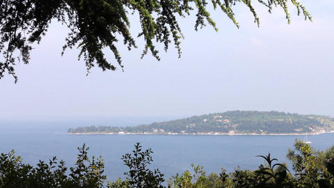 view of an island Stock Video Footage