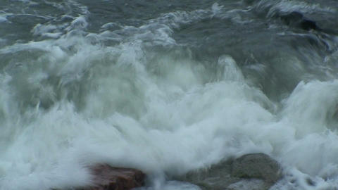 Background from waves at seashore, close-up Stock Video Footage