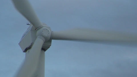 Wind power electric station wings, close-up Stock Video Footage