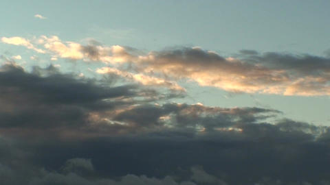 Background from clouds at sunrise, view Stock Video Footage