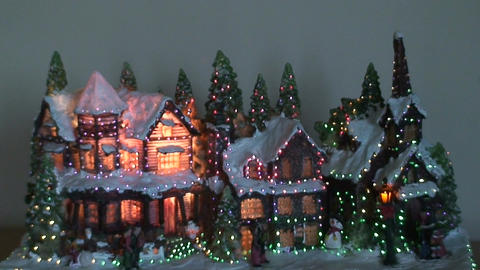 Christmas tree illumination, view Stock Video Footage