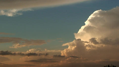 Malawi: time-lapse of clouds formation at sunset 1 Stock Video Footage