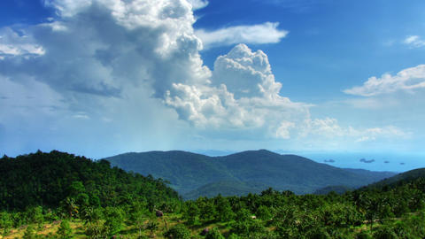 Mountain landscape and clouds time lapse Stock Video Footage