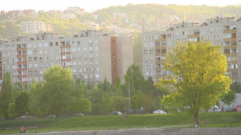 Block of Flats Stock Video Footage