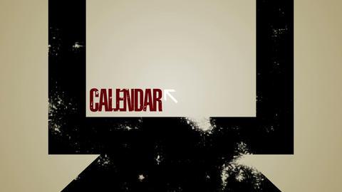 Computer Calendar Loop HD Stock Video Footage