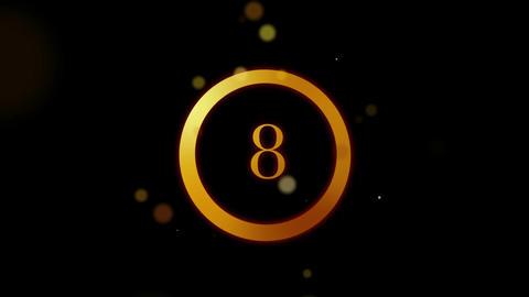 Countdown Particles Loop HD Stock Video Footage