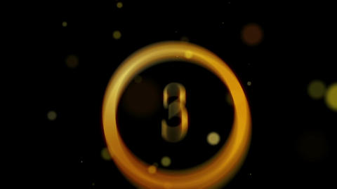 Countdown Particles Loop HD Stock Video Footage