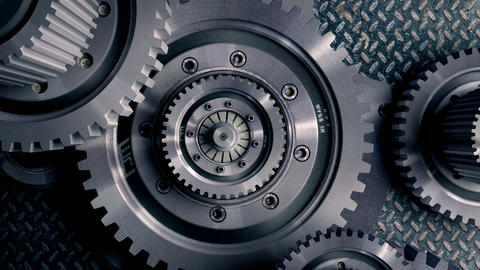 mechanisms of metal on the move Stock Video Footage