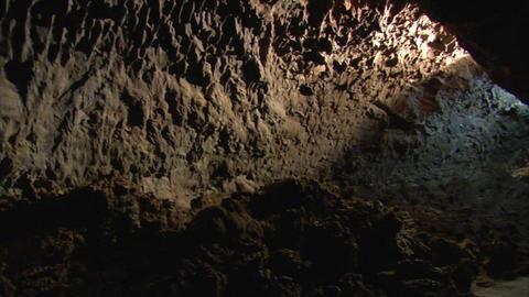 inside lava cave 2 Footage