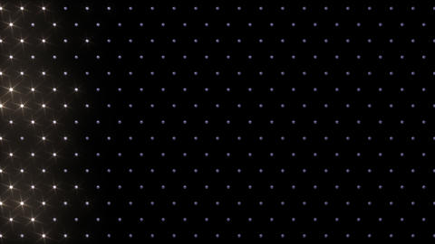 LED Disco Wall FFb 3 Stock Video Footage