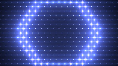 LED Disco Wall FFd 1 Stock Video Footage