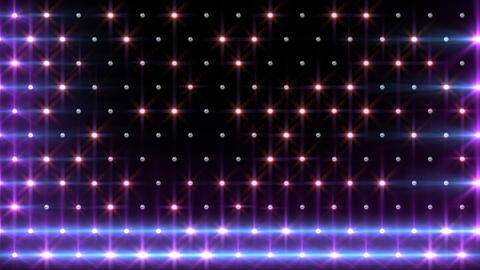 LED Disco Wall FPd6 Stock Video Footage