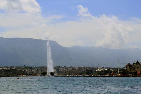 Geneva Waterfountain stock footage
