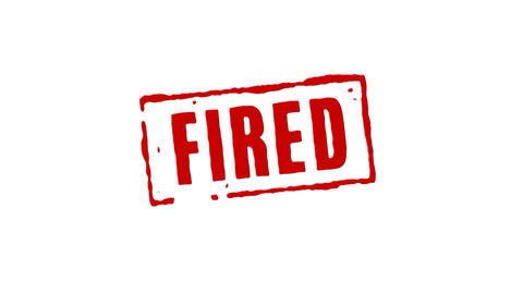 Fired From Job Red Stamp Transition stock footage