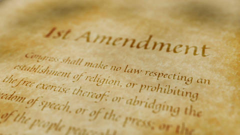 Historic Document 1st Amendment Animation