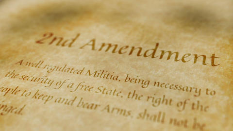 Historic Document 2nd Amendment stock footage