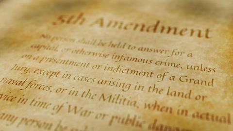 Historic Document 5th Amendment Animation