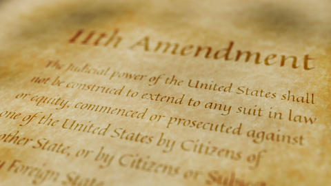 Historic Document 11th Amendment Animation