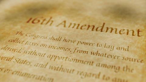 Historic Document 16th Amendment Animation