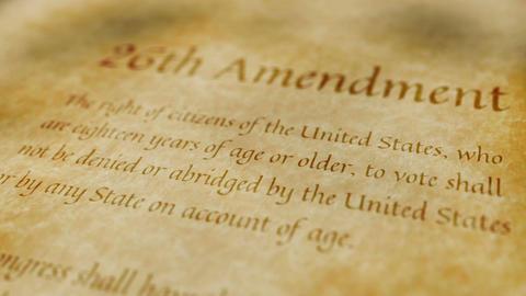 Historic Document 26th Amendment Animation