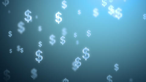 Money Rain Background, Dollars stock footage