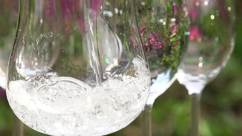Filling a Glass of Clean Water Footage