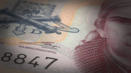 Mexican Pesos Close-up Animation
