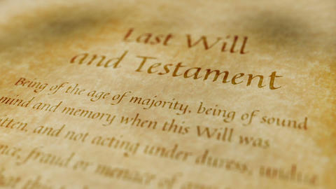 Historic Documents Last Will And Testament stock footage