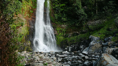 1920x1080 video - Mountain waterfall in rainforest Footage