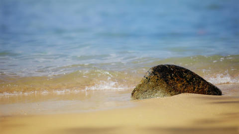 1920x1080 Video - Soft Calm Waves On Paradise Sand stock footage