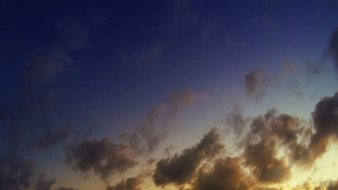 Video 1920x1080. Timelapse - clouds with rays of t Footage