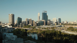 Perth City Afternoon Time Lapse from King's Park Footage
