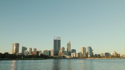 City of Perth Skyline Seen From Across the Swan Ri Footage