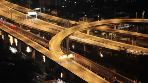Video - Modern Transport Interchange At Night stock footage