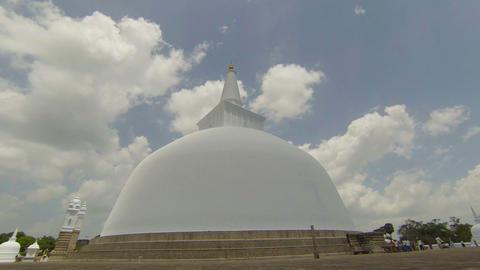 Video - Ancient sacred stupa in Anuradhapura. Sri  Footage