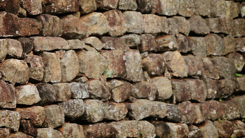 Ancient wall of rough stone. HD video Footage