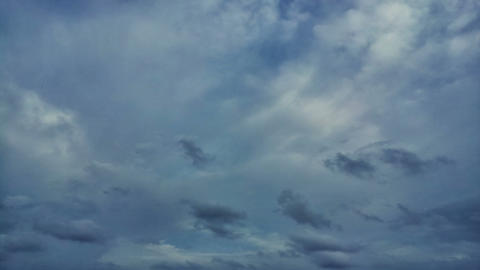 Clouds moving on blue sky time lapse Footage