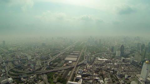 Aerial view of big city panorama. Thailand. Bangko Footage