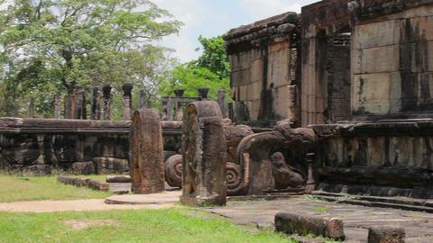 Sri Lanka Landmark - Medieval Ruined Temples stock footage
