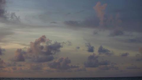 Cloudy sky over the ocean. Timelapse Footage