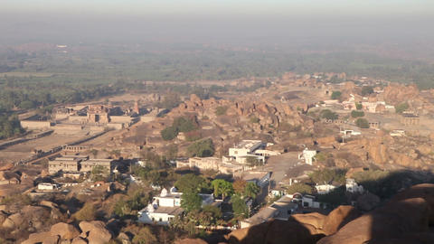 Panorama Of The Temple City In India stock footage