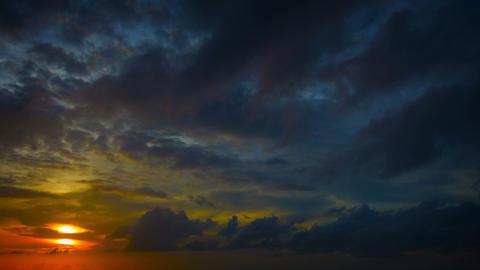 Beautiful colorful sunrise over tropical ocean Footage