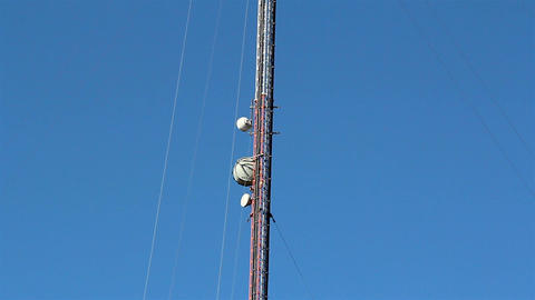 The Top Part Of The Mobile Tower stock footage