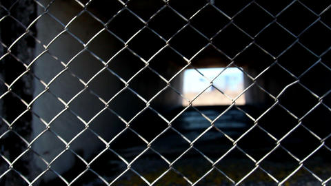 The Metal Wire Fence stock footage