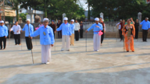 people practicing qigong, Asia Footage
